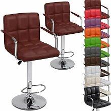 Miadomodo Barhocker Barsessel Hocker höhenverstellbar mit Armlehnen und Fußablage, Tresenstuhl höhenverstellbar Barmöbel mit Farb- und Setwahl