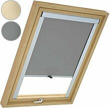 Miadomodo Dachfensterrollo Sichtschutz Rollo mit Verdunklung aus widerstandsfähigem Polyester und Aluminium mit Größen- und Farbwahl
