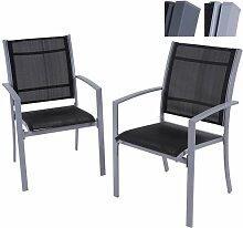 Miadomodo Gartenstuhl Campingstuhl Strandstuhl aus Stahlrohr mit Modell-, Farb- und Setwahl