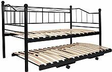 Miadomodo Metall-Tagesbett Bett Gästebett