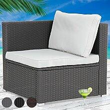 Miadomodo Polyrattan Ecksofa Gartensofa Sofa Sitzbank im edlen Design inkl. Kissen und Aluminuimfüßen mir Farbwahl