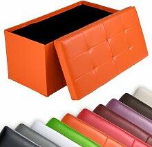Miadomodo Sitzhocker Sitzwürfel Sitzbank Faltbar mit gepolsterter Sitzfläche in verschiedenen Farben