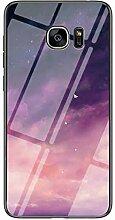 Miagon Galaxy S7 Edge Glas Handyhülle,Himmel
