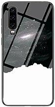 Miagon Glas Handyhülle für Huawei P30,Himmel