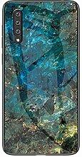 Miagon Glas Handyhülle für Huawei P30,Marmor