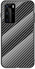 Miagon Glas Handyhülle für Huawei P40,Kohlefaser