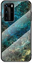 Miagon Glas Handyhülle für Huawei P40,Marmor