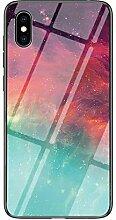 Miagon Glas Handyhülle für Huawei Y5 2019,Himmel