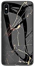 Miagon Glas Handyhülle für Huawei Y5 2019,Marmor