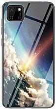 Miagon Glas Handyhülle für Huawei Y5P,Himmel
