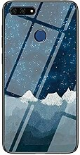 Miagon Glas Handyhülle für Huawei Y6 2018,Himmel