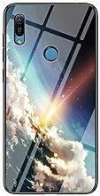 Miagon Glas Handyhülle für Huawei Y6 2019,Himmel