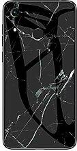 Miagon Glas Handyhülle für Huawei Y6 2019,Marmor