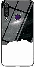 Miagon Glas Handyhülle für Huawei Y6P,Himmel