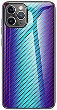 Miagon Glas Handyhülle für iPhone 11,Kohlefaser
