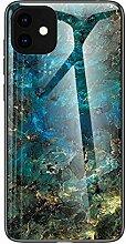 Miagon Glas Handyhülle für iPhone 11,Marmor