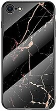 Miagon Glas Handyhülle für iPhone 6S/6,Marmor