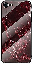 Miagon Glas Handyhülle für iPhone 7/8,Marmor