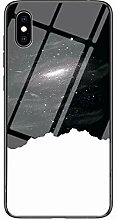Miagon Glas Handyhülle für iPhone X/XS,Himmel