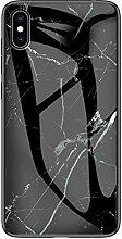 Miagon Glas Handyhülle für iPhone X/XS,Marmor