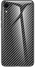 Miagon Glas Handyhülle für iPhone XR,Kohlefaser
