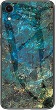 Miagon Glas Handyhülle für iPhone XR,Marmor