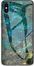 Miagon Glas Handyhülle für iPhone XS Max,Marmor