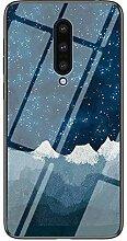 Miagon Glas Handyhülle für OnePlus 8,Himmel
