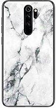 Miagon Glas Handyhülle für Xiaomi Redmi Note 8