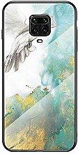 Miagon Glas Handyhülle für Xiaomi Redmi Note 9