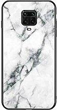 Miagon Glas Handyhülle für Xiaomi Redmi Note