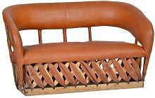 MiaMöbel Equipales 3-Sitz Sofa Massivholz,