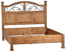 MiaMöbel Mexico Bett 160x200cm Massivholz Pinie