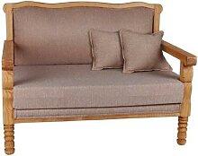 MiaMöbel Mexico Sofa 100% Baumwolle, Massivholz