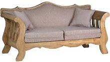 MiaMöbel Mexico Sofa 2-Sitzer 100% Baumwolle,