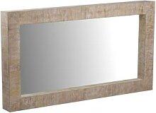 MiaMöbel Spiegel Suri rechteckig Glas, Massivholz