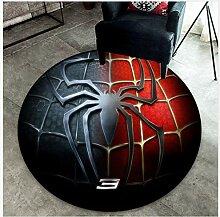 Mianbao Runder Teppich Spiderman Marvel Chair