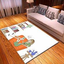 Mianbao Teppiche Mädchen Teppich Ruglor Teppiche