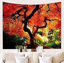 MIANJUNAN Tapestry Wall Hanging,Ahorn Baum