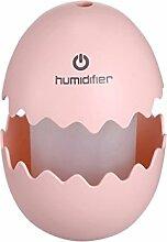 MIAO Eier Luftbefeuchter USB Bunte Nachtlicht Büro Haushalt Nachschub Luftbefeuchter 8 * 8 * 12 Cm,Pink