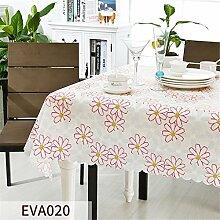 MIAO Grüne Tischdecke rechteckigen PVC Material