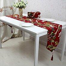 Miaoge Bambus Baumwolle Tischläufer Magnolia