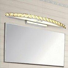 Miaoge Einfache Luxus WC Spiegelfrontleuchte LED Kristall Wand Bad Wasser anti-fog Edelstahl Spiegel vorderen Leuchten 54cm 10W