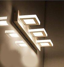 Miaoge Highlight LED Spiegel vorderen Leuchten reines weißes Acryl WC Bad Make-up-Licht Weiß 480mm 9W
