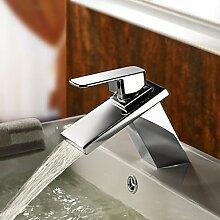 miaoge Messing Wasserfall Waschbecken Wasserhahn