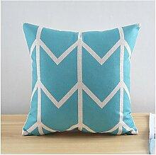 miaoge modernen Stil Fenster Punkte Baumwolle/Leinen Dekorative Kissenbezug