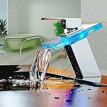 miaoge Waschbecken Wasserhahn mit Farbwechsel LED