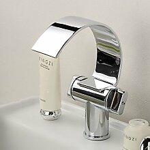 miaoge Waschbecken Wasserhahn mit Messing Chrome