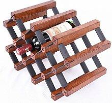MIAOLIDP Weinregal Weinregal Holz Ornamente