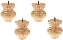 MiaoMiao Möbelbeine aus Gummi, M8-Gewinde, Ersatz